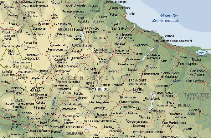 Cartina Puglia E Molise.Terremoto Molise 2002 Ass Falchi Del Sud Centro Operativo Di Protezione Civile Napoli